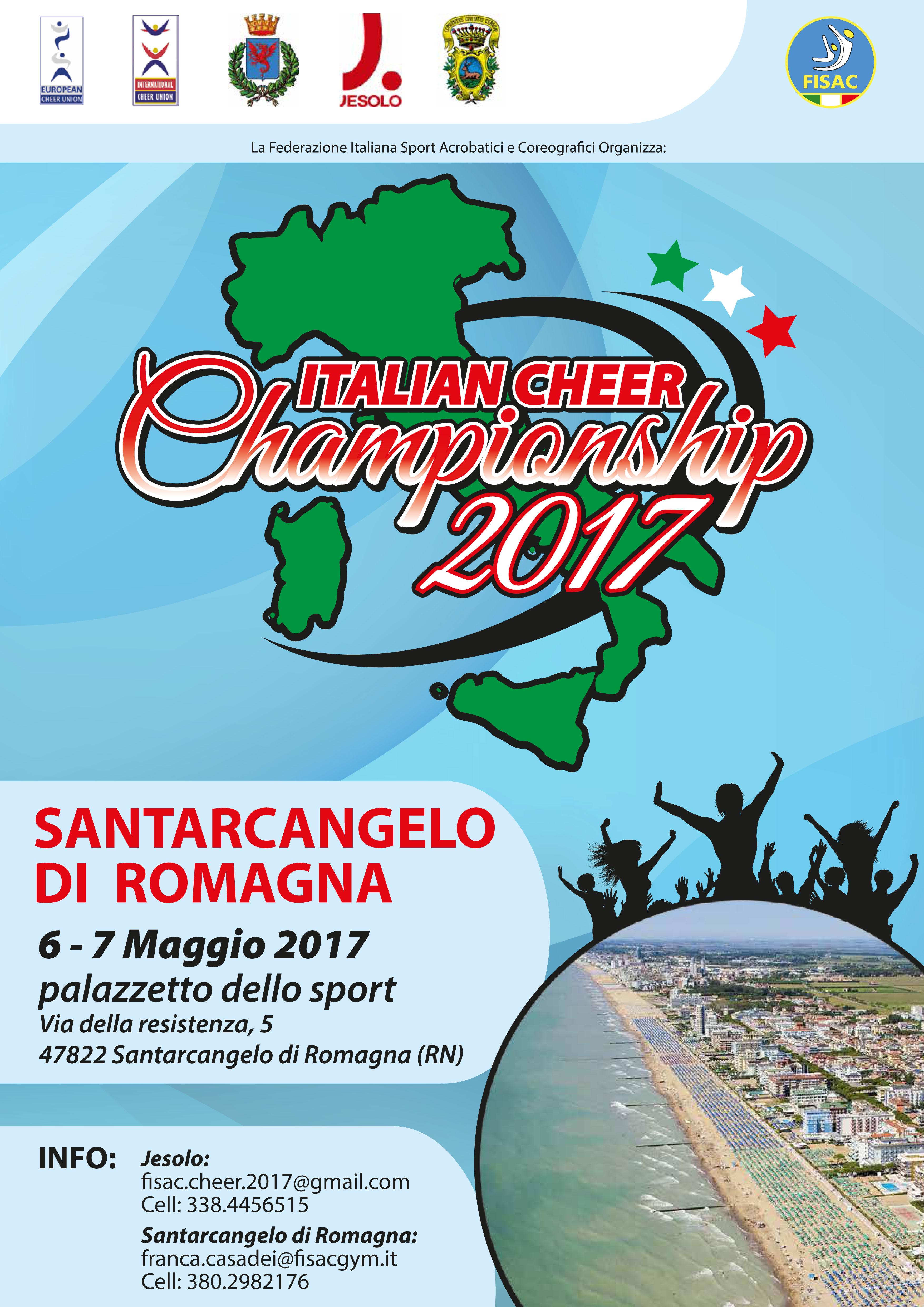locandina campionato italinao cheer 2017